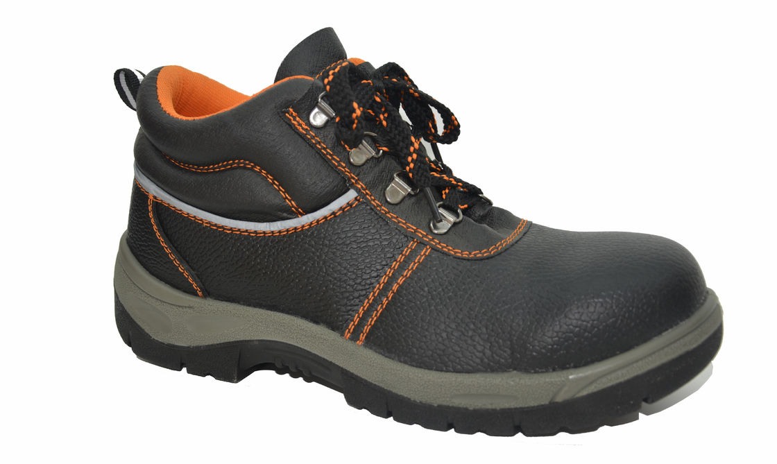 Comfortable Steel Toe Work Shoes , Genuine Leather Work Shoes Anti Shock